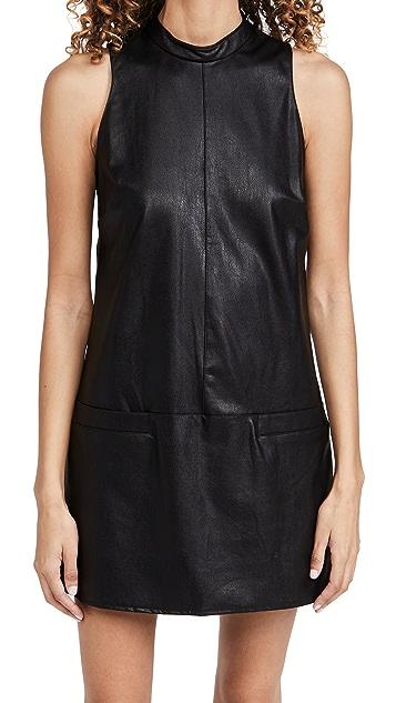 Amanda Uprichard Faux Leather Mayer Dress