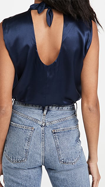 Amanda Uprichard Sleeveless Fabienne Thong Bodysuit