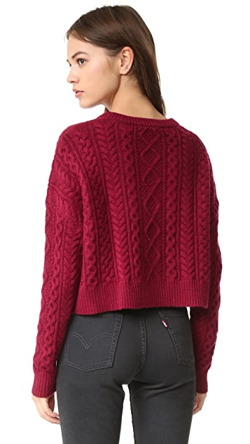 Autumn Cashmere Cropped Boxy Fisherman Sweater