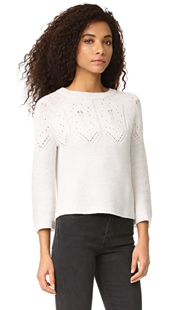 Autumn Cashmere Cropped Cashmere Sweater with Back Tie