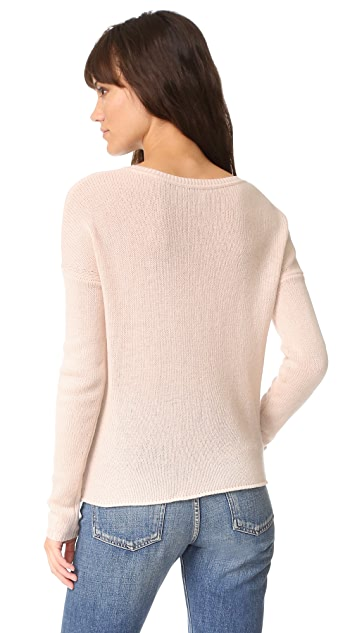Autumn Cashmere Loose GG Tie Front Sweater