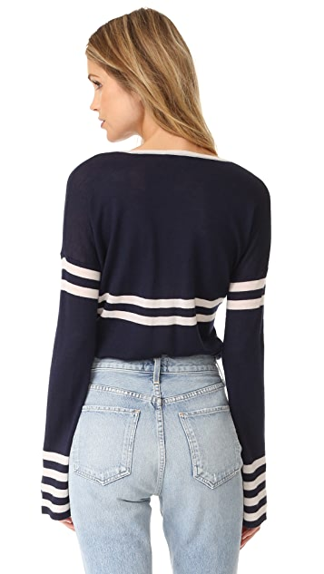 Autumn Cashmere Striped Cashmere Pullover