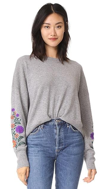 Autumn Cashmere Embroidered Cashmere Sweater