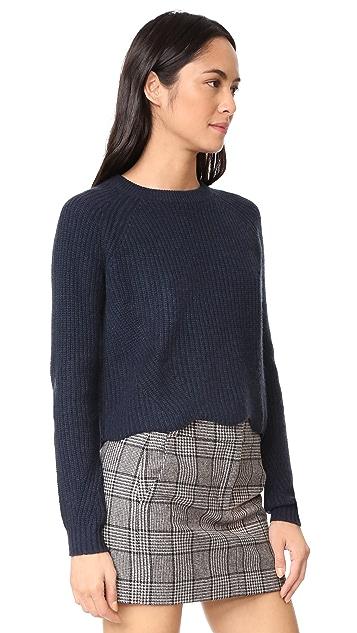 Autumn Cashmere Scalloped Cashmere Shaker Sweater
