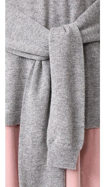 Autumn Cashmere Tie Front Sweater