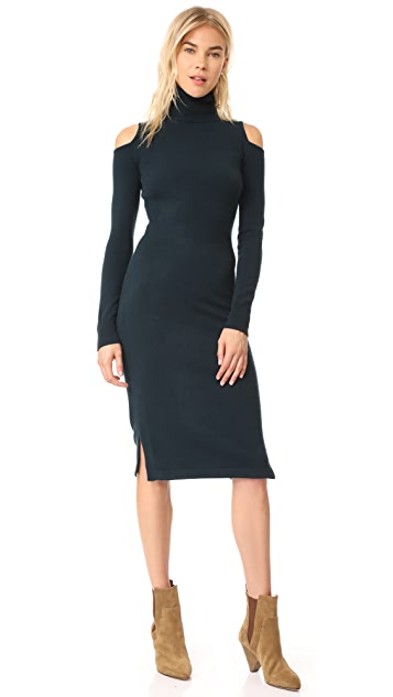 Autumn Cashmere Cold Shoulder Turtleneck Dress