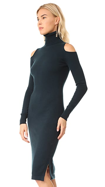 Autumn Cashmere Cold Shoulder Turtleneck Dress