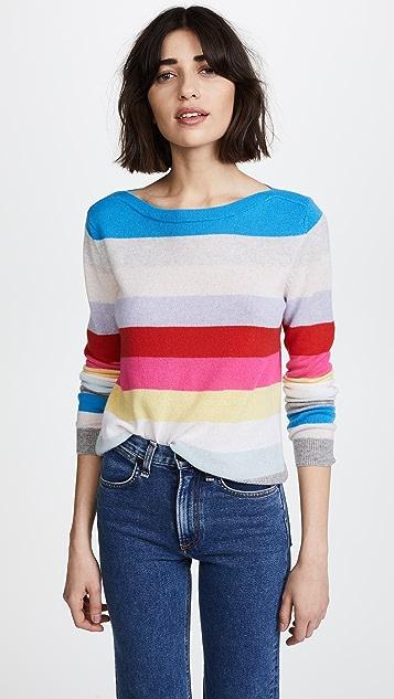 Autumn Cashmere Rainbow Stripe Cashmere Sweater