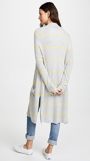 Autumn Cashmere Pencil Stripe Open Cardigan