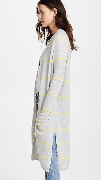 ... Autumn Cashmere Pencil Stripe Open Cardigan ...
