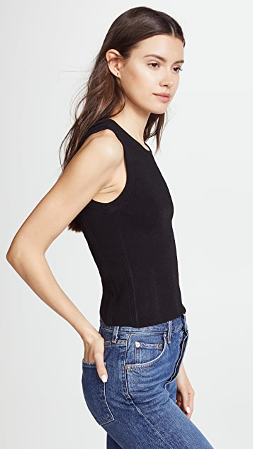 Autumn Cashmere Woven Back Muslce Tee