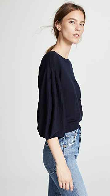 Autumn Cashmere Balloon Sleeve Cashmere Sweater