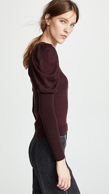 Autumn Cashmere Juliet Sleeve Cashmere Crew Sweater