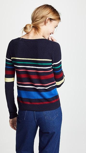 Autumn Cashmere Multicolored Stripe Cashmere Sweater