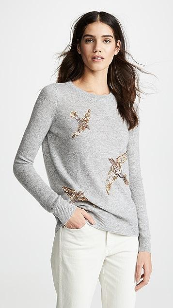 Autumn Cashmere Sequin Birds Cashmere Sweater