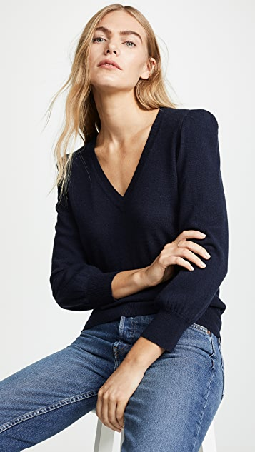 Autumn Cashmere Puff Sleeve Cashmere Sweater