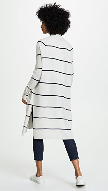 Autumn Cashmere Pencil Stripe Open Cashmere Cardigan