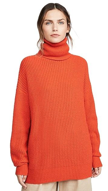 Autumn Cashmere Oversize Cashmere Turtleneck