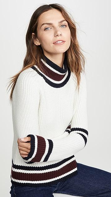 Autumn Cashmere Свободный свитер с воротником-стойкой