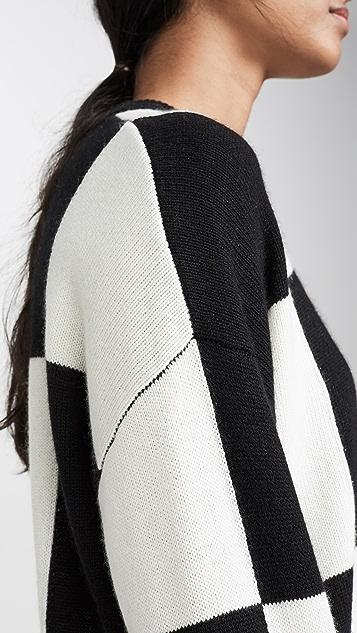 Autumn Cashmere Кашемировый пуловер в клетку