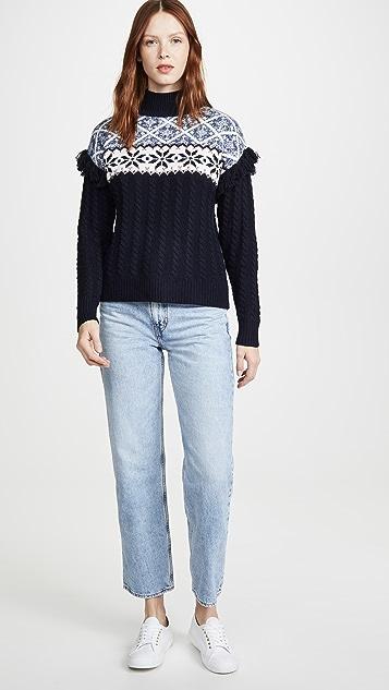 Autumn Cashmere Fair Isle Fringe Sweater
