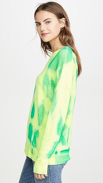 Autumn Cashmere Cashmere Blotch Print Boyfriend Crew Sweater