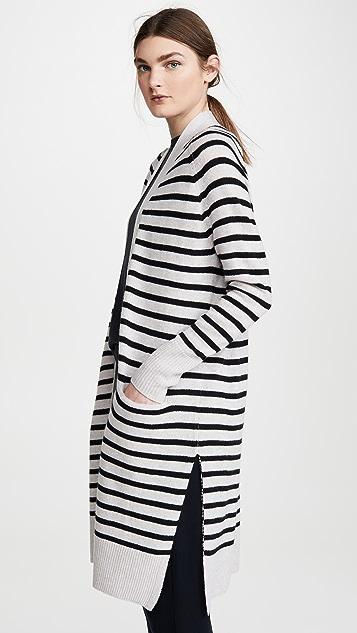 Autumn Cashmere Maritime Stripe Open Cashmere Cardigan