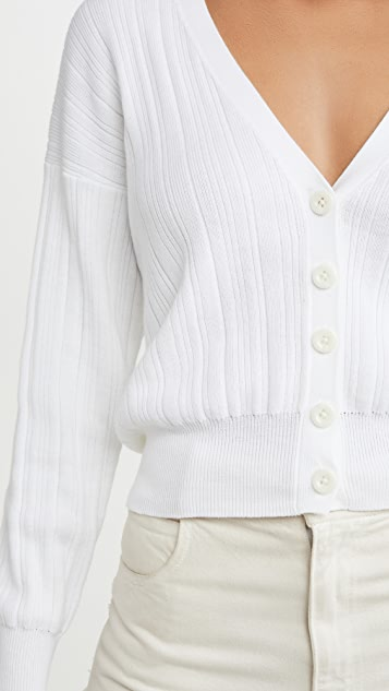 Autumn Cashmere Ribbed V Neck Cardigan