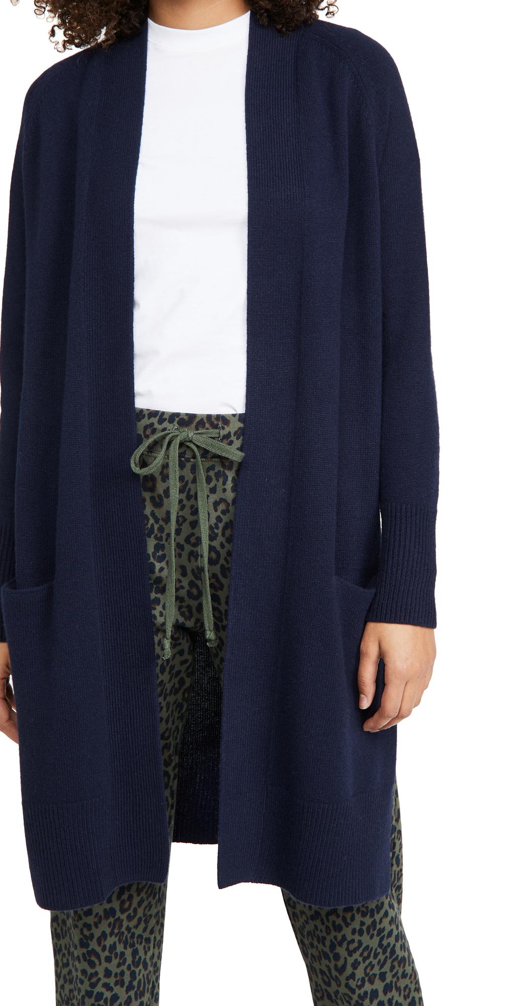 Maxi Open Cashmere Cardigan