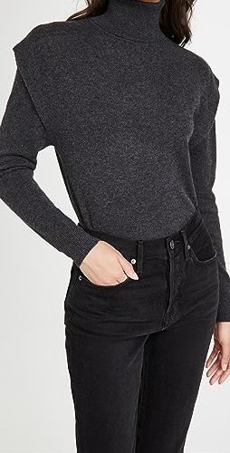 Autumn Cashmere - Flange Shoulder Cashmere Turtleneck