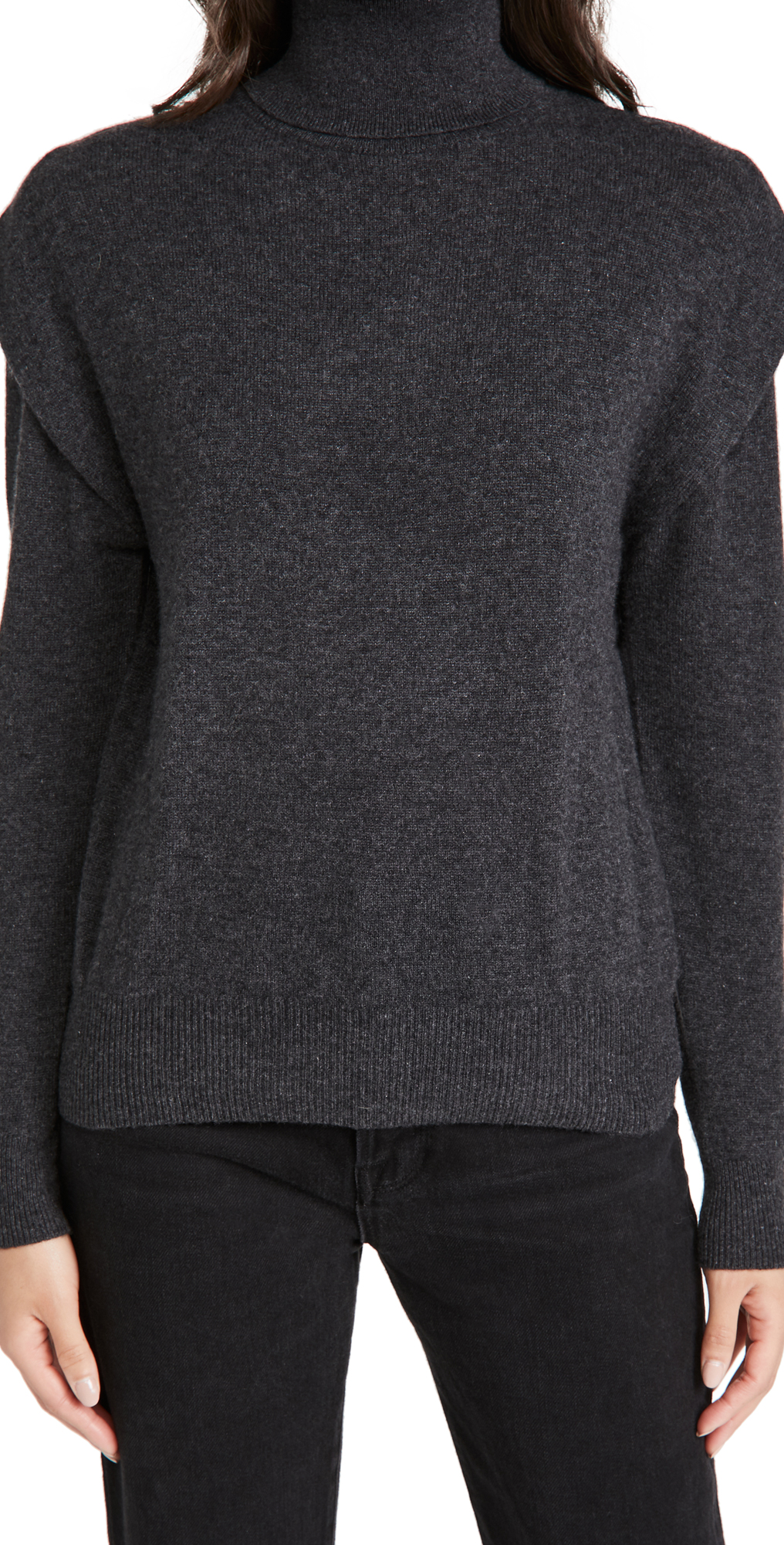 Autumn Cashmere Flange Shoulder Cashmere Turtleneck
