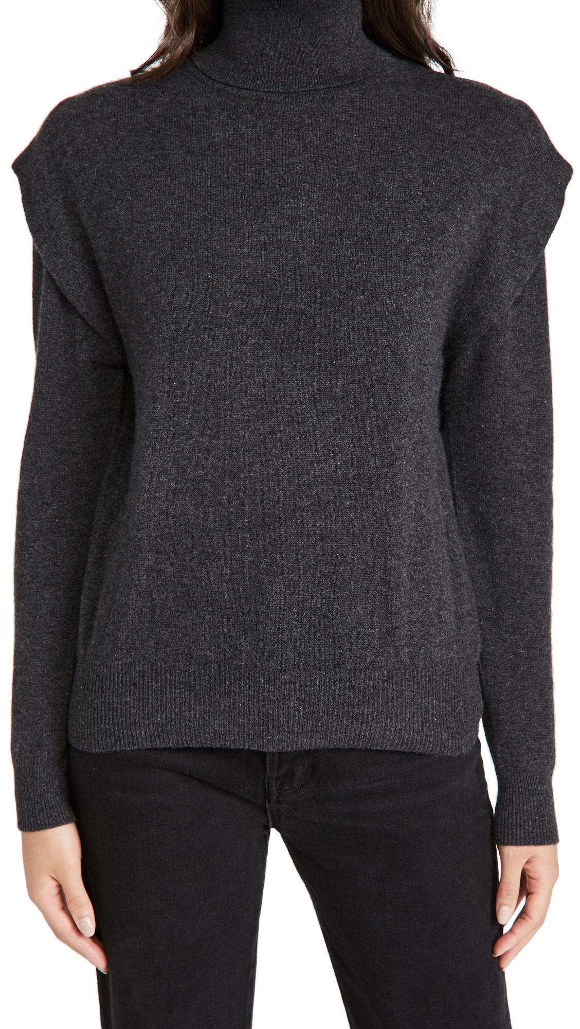 Autumn Cashmere Flange Shoulder Cashmere Turtleneck