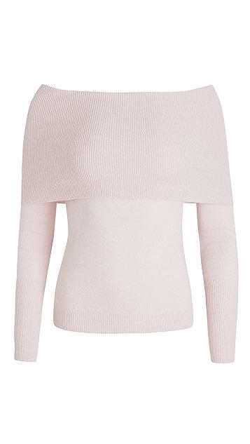 Autumn Cashmere Angelina Off Shoulder Cashmere Sweater
