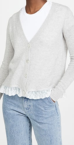 Autumn Cashmere - Lace Trimmed Loose GG Cardigan