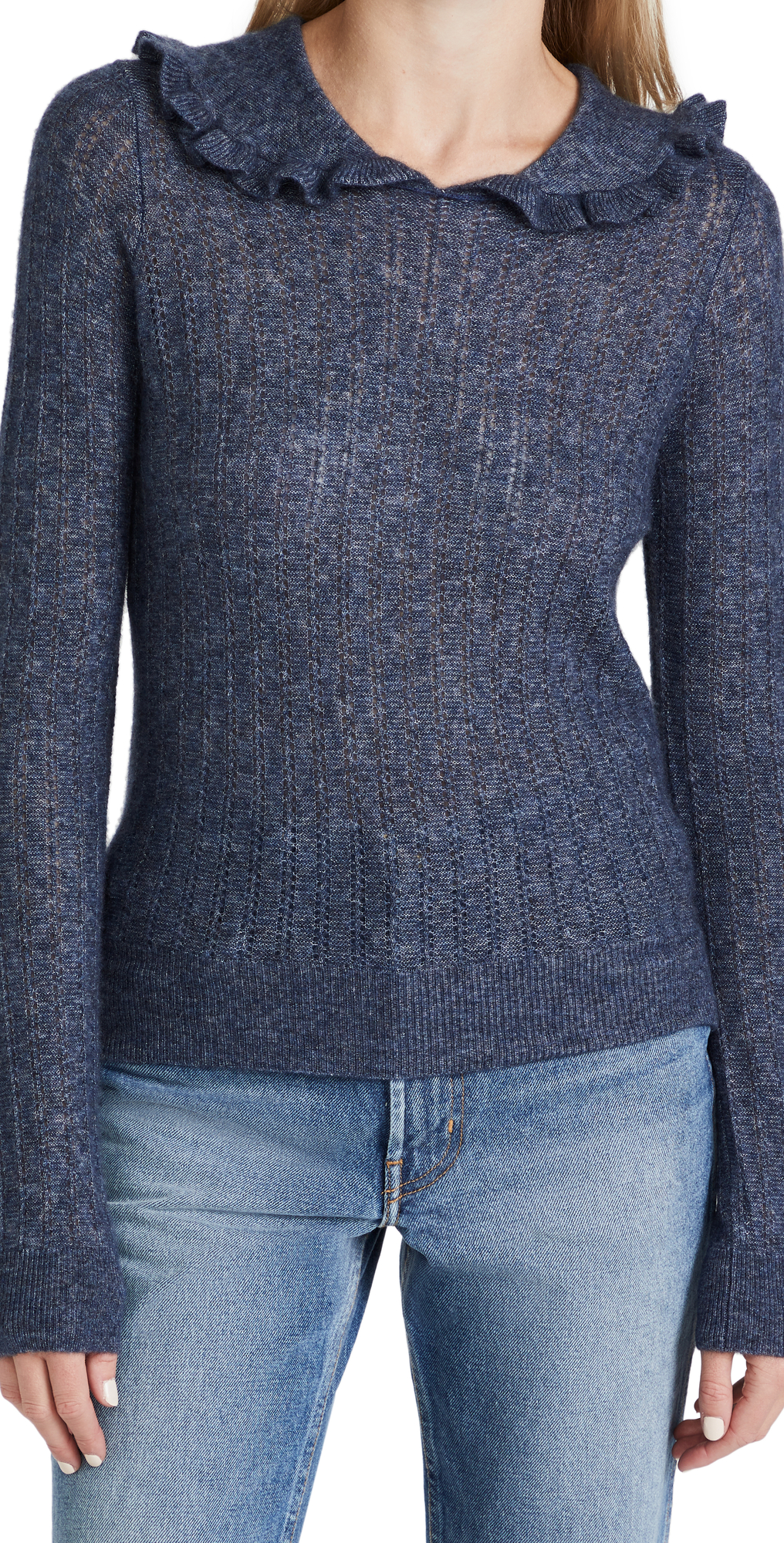 Cashmere Ruffle Collar Sweater