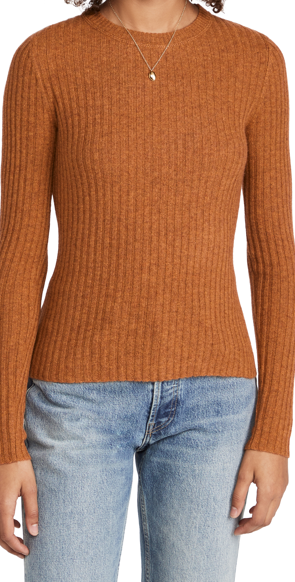 Rib Crew Cashmere Sweater