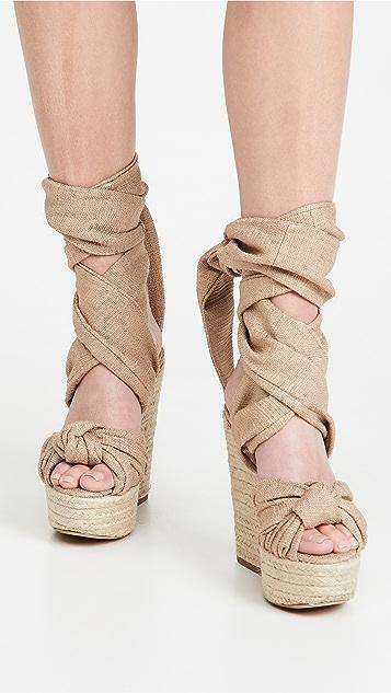 Alexandre Vauthier Leila 坡跟凉鞋