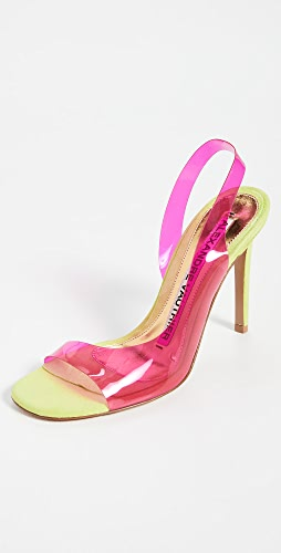 Alexandre Vauthier - Amber Ghost Lime+Fuchsia Pumps
