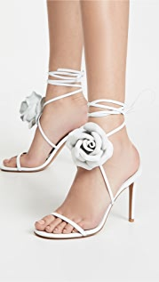 Alexandre Vauthier Laurel 水晶花朵凉鞋