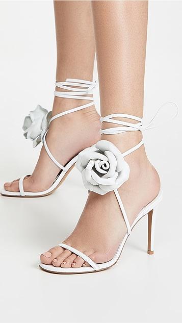 Alexandre Vauthier Laurel Crystal Flower Sandals