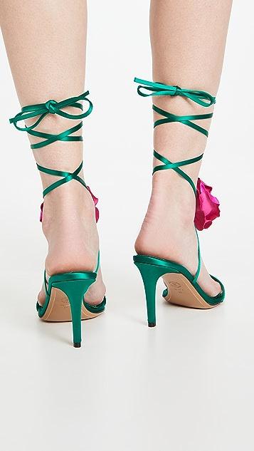 Alexandre Vauthier Laurel Flower Sandals