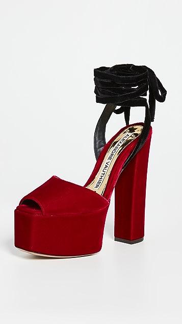 Alexandre Vauthier 环绕式厚底凉鞋