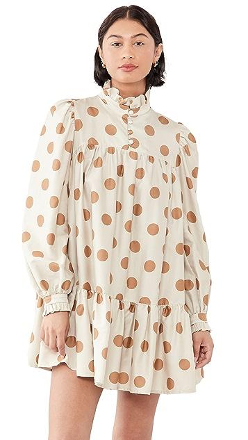 AVAVAV Long Sleeve Mini Ruffle Dress