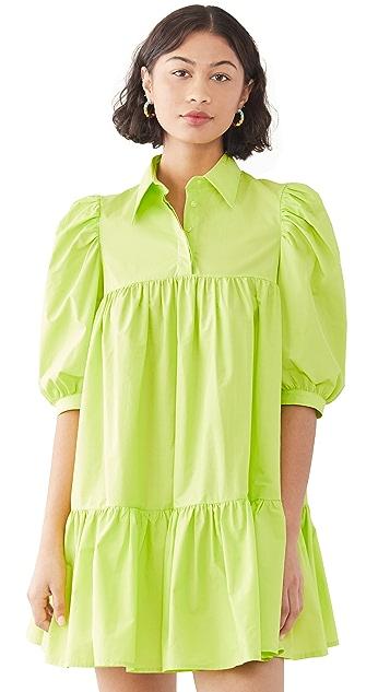 AVAVAV Short Sleeve Puff Shirt Dress