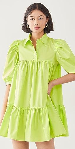 AVAVAV - 短袖泡泡衬衣连衣裙