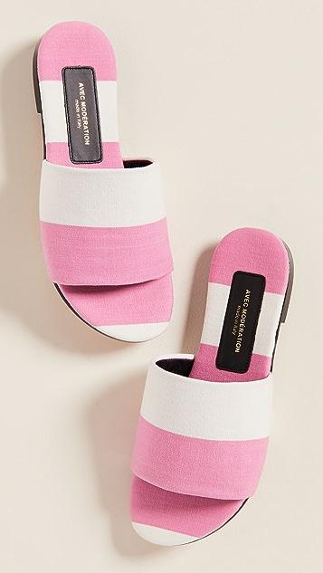Avec Moderation Monaco Slide Sandals