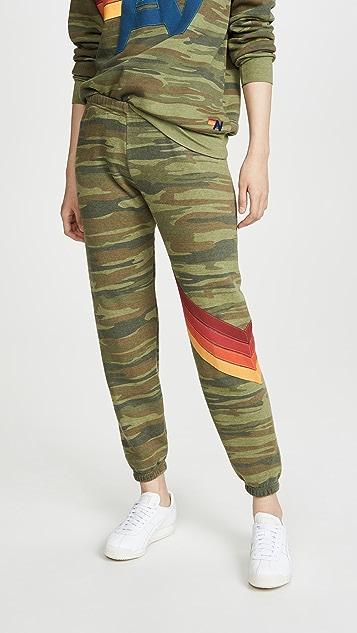 Очки Aviator Nation Камуфляжные спортивные брюки с шевронами