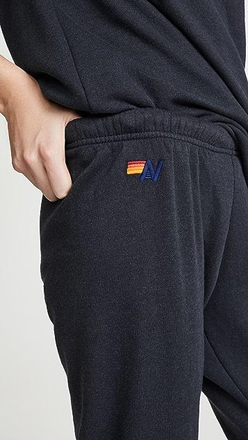 Aviator Nation 5 条纹运动裤