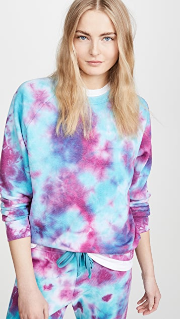 Aviator Nation Tie Dye Crew Sweatshirt