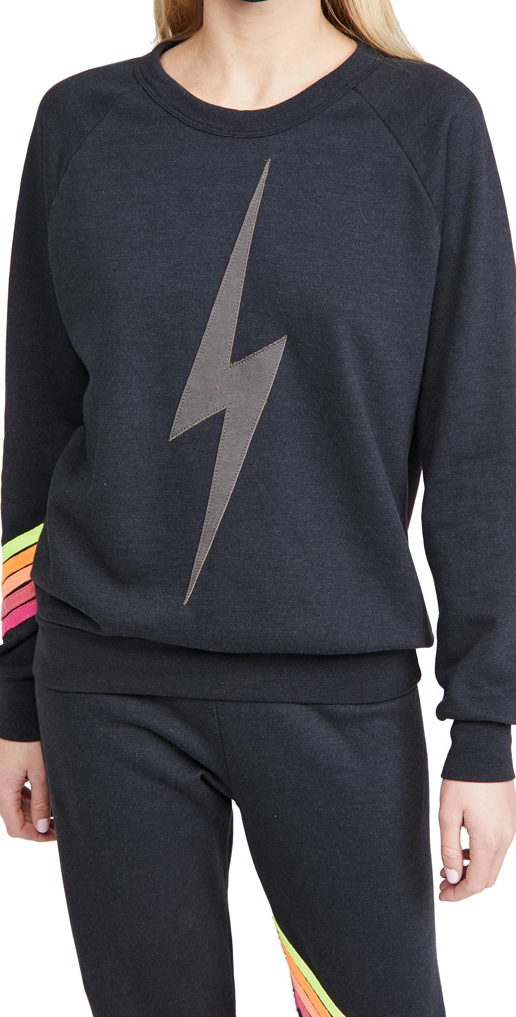 Aviator Nation Bolt Stitch Crew Sweatshirt